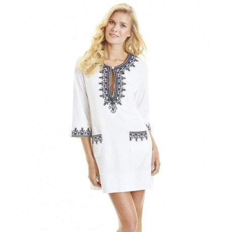 Cabana Life - UPF 50+ Coastal Crush - geborduurde Terry Tunic