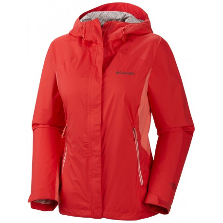 Columbia Dames Rainstormer Jacket Red Hibiscus