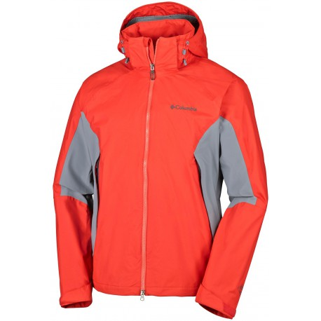 Columbia Heren On teh Mount Stretch Jacket Red Grey