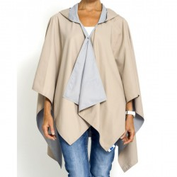 RAINRAP met Capuchon Camel / Light Grey