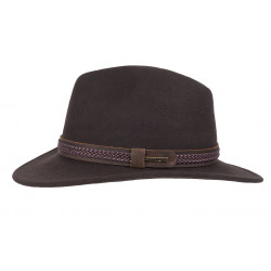 Hatland | Heren hoed Vagant Crushable Brown
