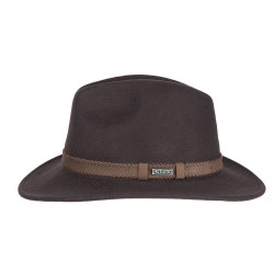 Hatland | Heren hoed Parsons Crushable Dark Brown